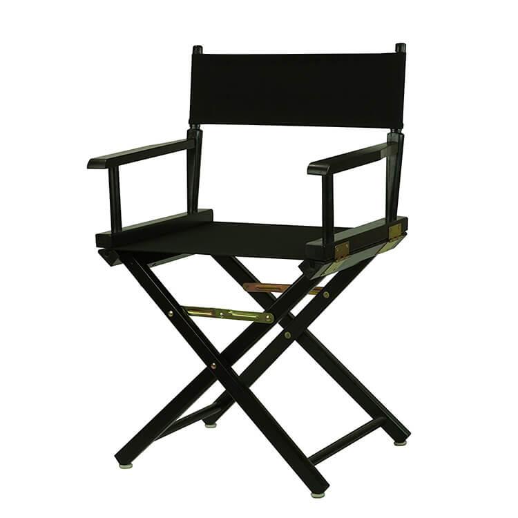 Low Black Folding Aluminum Director Chair